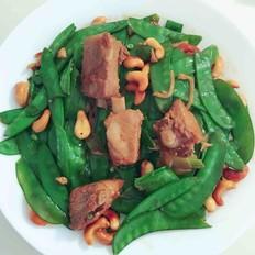 荷蘭豆炒腰果小排