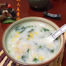 青菜玉米瑶柱粥