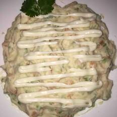 三文鱼沙拉土豆泥