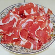 自制羊肉卷涮火锅
