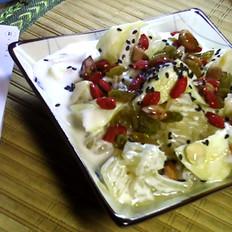 黄桃酸奶水果沙拉