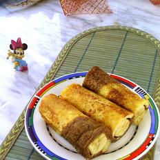面包糠怎么做炸的时候不会掉香蕉土司卷的做法
