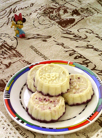 蜂蜜紫薯山药糕的做法