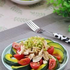 南瓜鸡肉沙拉