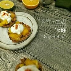 坚果燕麦芒果挞