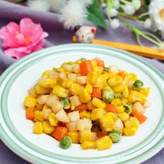 馬蹄清炒玉米粒  寶寶健康食譜