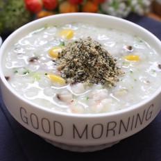 寶寶輔食食譜  玉米西蘭花蝦粥