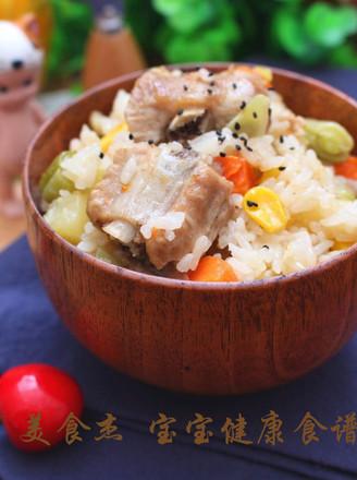 排骨时蔬焖饭  宝宝健康食谱的做法