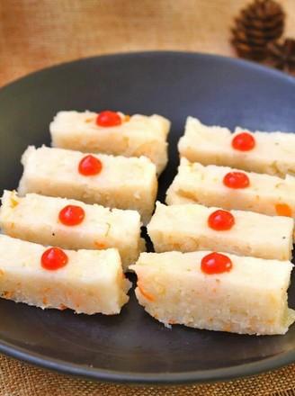 鮮貝蘿卜蒸糕  寶寶健康食譜的做法