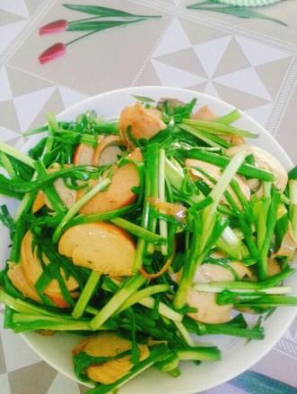蒜苗炒豆腐干的做法