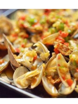 蒜蓉烤花蛤的做法