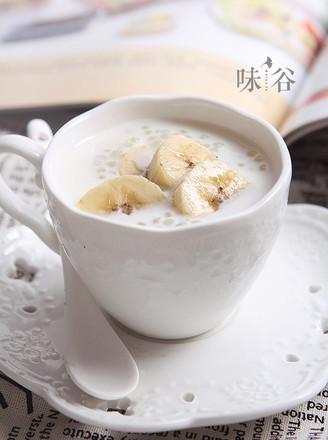 香蕉牛奶西米露的做法