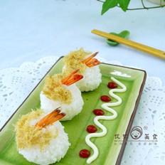 鲜虾肉松饭团