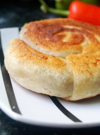 香葱鲜肉蜗牛饼的做法