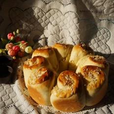 酥花生怎么做椰蓉卷面包的做法