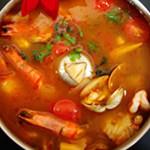 酸辣椰漿海鮮湯