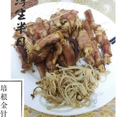 培根金針菇卷