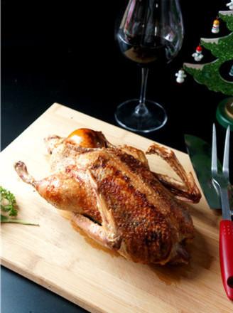 鼠尾草填馅烤鸭的做法