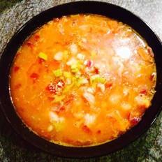 番茄海鲜浓汤