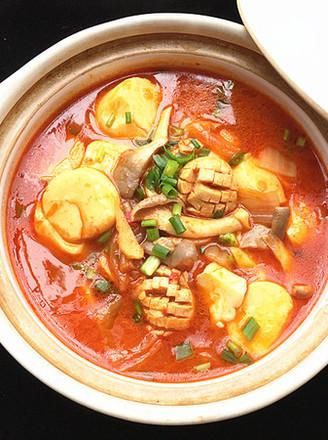 辣白菜杂锅的做法