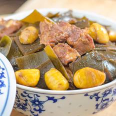 如何炒小白菜好吃海带板栗烧排骨的做法