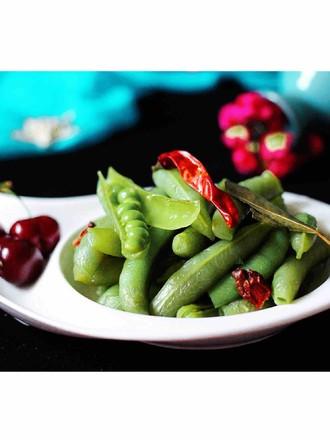 风味豌豆的做法