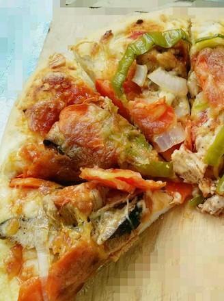 黑胡椒鸡肉披萨的做法