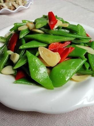红椒炒芸豆的做法