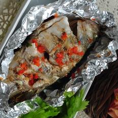 錫紙包烤鱸魚