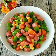 青椒玉米火腿肠