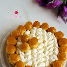 奶油泡芙甜酥饼
