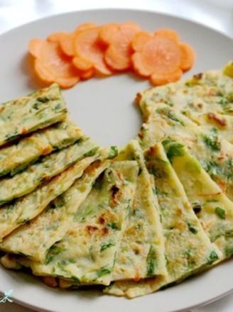 芹菜叶胡萝卜饼的做法
