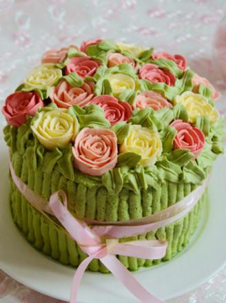 玫瑰花束海绵蛋糕的做法