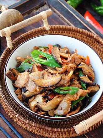 双椒花菇炒肉片的做法