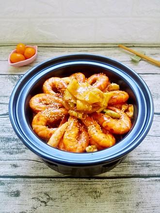 麻辣干锅虾(酒精煲版)的做法
