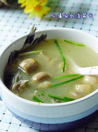 黄腊丁鲜蘑汤的做法