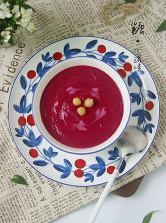 高颜值的补血补钙浓汤【甜根菜鹰嘴豆浓汤】的做法