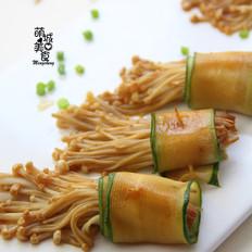 黃瓜金針菇卷