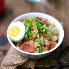 干豌豆怎么吃好吃土豆腊肠焖饭的做法