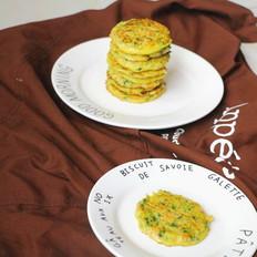 鳕鱼蔬菜米饼 宝宝辅食,青菜叶+胡萝卜+ 豇豆+鸡蛋+米饭