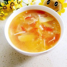 西紅柿金針菇瘦肉湯