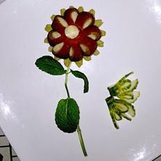 四色花朵面包