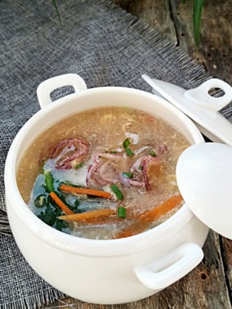 八带酸辣汤的做法