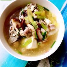 豬肝粉腸什錦湯