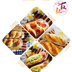 米酒汤怎么做椰蓉蒜香火腿三种面包的做法