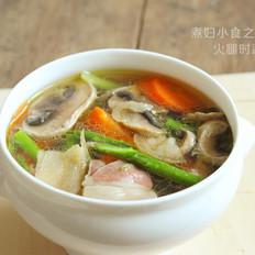 火腿時蔬湯