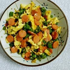 小米椒炒鸡蛋火腿