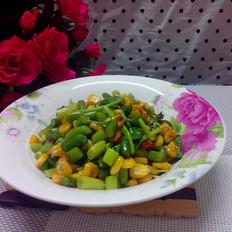 蒜苔炒玉米