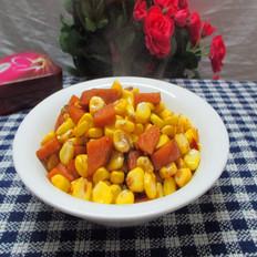 火腿炒玉米
