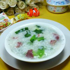 青菜咸肉大米粥